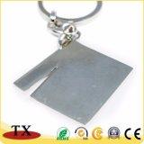 Anello chiave del piccolo 2D metallo dell'ardesia della dogana