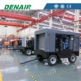 Compresor de aire portable diesel de alta presión móvil del tornillo