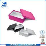Rectángulo de papel de la insignia del diseño del zapato de lujo de encargo de la cartulina
