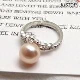 복장 여자 보석 인공 핑거 크라운 아름다운 진주 반지