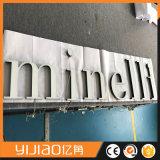 Metal de fabricación al por mayor del nuevo diseño con la carta de canal de acrílico del panel LED