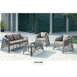 Nuova mobilia del giardino del rattan del nero dell'accumulazione sulla vendita