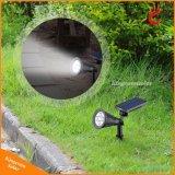 新しいデザインRGB LED 太陽エネルギーのスポットライトの太陽庭の芝生ライト機密保護ランプの景色ライト