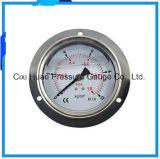 水清浄器または圧力計のためのフランジのステンレス鋼の圧力計