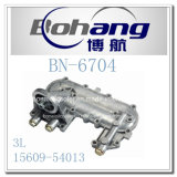 Cubierta del refrigerador de petróleo de Toyota 3L del recambio del motor de Bonai (15609-54013)