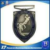 Médaille de sport de passage de marathon d'enjeu avec le sablage