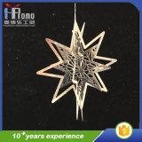 3Dデザイン金属のギフトの昇進はクリスマスの星の装飾を制作する