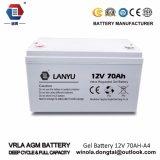 12V 70 Ah/10hr de ZonneBatterij van het Gel van het Gebruik van de Batterij UPS