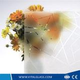 o ácido de 4-12mm gravou/vidro modelado geado do diamante/vidro figurado