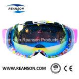 大きいレンズの広い視野のAnti-Fog紫外線切口のスキーゴーグル