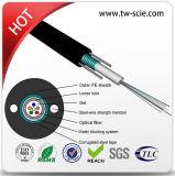 2/4/6/12 cable óptico GYXTW de fibra de la base G652D para la instalación aérea