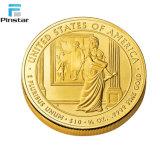 Cheap latón chapado en oro de metal personalizados falsos recuerdos de monedas de oro