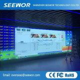 P6.25mm Mietinnen-LED-Bildschirmanzeige mit dem 500*500mm Schrank