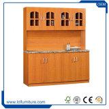 4つのドアPVC食器棚が付いている現代積層モジュラー木の食器棚