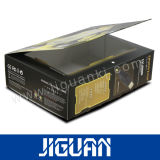 銀製の熱い押すロゴの印刷の黒のペーパーギフト用の箱