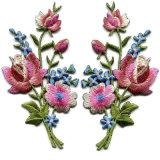 Красивый дизайн с вышитым цветочным патч в Гуанчжоу