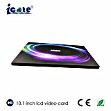 Folleto video hermoso del LCD de 10.1 pulgadas de la alta calidad para el regalo/la invitación, precio del asunto de fábrica