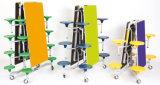 Складывая кафетерий университета/таблица и стулы буфета обедая с местами цвета