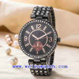 Relógio de senhoras do ODM do relógio do aço inoxidável (WY-G17004C)