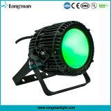 Luz de par de sabugo 100W DMX Holofote LED de exterior