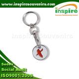Einkaufen-Münzen-Laufkatze-Schlüsselring für Förderung