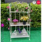 錬鉄3層の花プランター棚のコーナーの棚