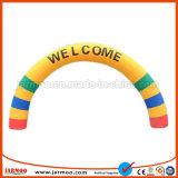 Commerce de gros logo imprimé pratique Rainbow arche gonflable