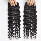 Extensões 100% profundas peruanas do cabelo humano de Remy da onda do Virgin