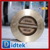 Didtek 30 años de la válvula del fabricante de la placa de la oblea del bronce de válvula de verificación dual