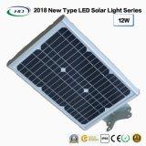 Neuer Typ 2018 einteiliges Solar-LED-Garten-Licht 12W