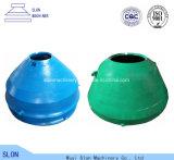 Le broyeur résistant à l'usure de cône de Metso Sx500 partie des doublures de cuvette, manteau, concave