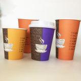 16oz одноразовые горячего кофе чашку бумаги с одной стене