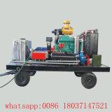 da máquina de alta pressão da limpeza de Jetter da água de 500bar -1500bar motor Diesel - conduzido