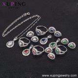 63833 el lujo de moda Heart-Shaped Diamante CZ Rodio Royal Bisutería para Boda