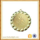Aduana de aluminio de la medalla de la divisa de la tarjeta del partido de fútbol del juego