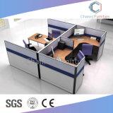 L stazione di lavoro di legno delle sedi dell'ufficio 4 di figura con il basamento mobile (CAS-W31422)