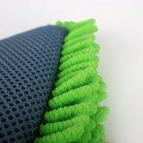 Polyester-Auto-Wäsche-Handschuh 100% mit Ineinander greifen (Chenillehandschuhe)