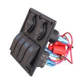 4 Gruppe-Boots-Wippenschalter-Panel Doppel-Schalter USB-Marineschalter-Panel des USB-Zigaretten-Feuerzeug-Kontaktbuchse-Auto-Schalter-Panel-LED