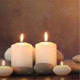 Reine weiße spitze Spitzenpfosten-Kerze für Weihnachtssegen