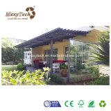 Toldo de madera modificado para requisitos particulares jardín al aire libre de la pérgola de la talla WPC