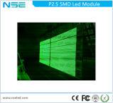 Visualização óptica video da parede do diodo emissor de luz P2.5 que anuncia o módulo do diodo emissor de luz do quadro de avisos