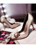 O salto elevado das mulheres calç sapatas de vestido das sapatas do casamento