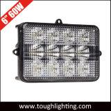 "6"" X 4"" 60W LED rectangular de la luz de la cosechadora para tractores"