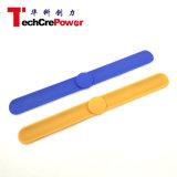 Il braccialetto passivo personalizzato di RFID, Wristband caldo del silicone RFID di vendita/braccialetto, NFC impermeabilizza il Wristband - arancio/azzurro