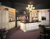 ヨーロッパ式のラッカーMDFの食器棚の食器棚