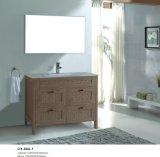 Деревянные зерна цветной ПВХ ванной комнате с четырьмя выдвижными ящиками