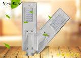 25W de movimiento infrarrojos Accesorio de iluminación LED inteligente de luz solar calle