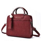 Goedkope Dame Tote Handbag van het Leer van de manier Kleurrijke Pu (fte-082)