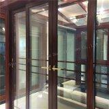 Portello scorrevole di vetro di profilo di alluminio di colore del palissandro