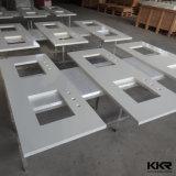 Parte superiore artificiale strutturata di marmo di vanità del quarzo per la stanza da bagno